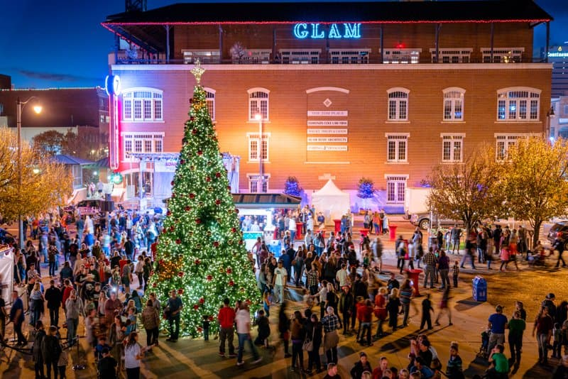 Downtown In December Oklahoma City