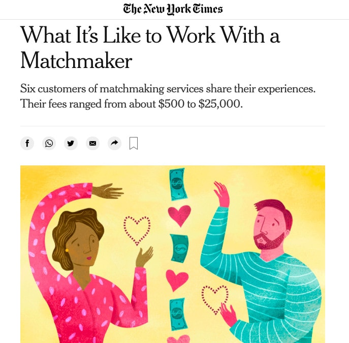 The New York Times What It's Like To Work With a Matchmaker