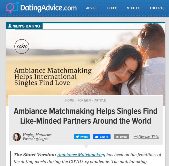 Datingadvice.com Ambiance Matchmaking